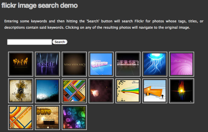 Flickr Photo Search Demo